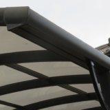 カーポートの屋根の端から水がしたたるので直してみた